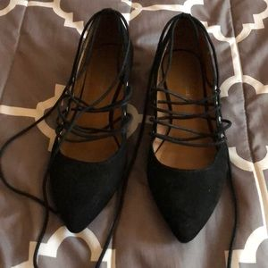 American Eagle Lace-up flats